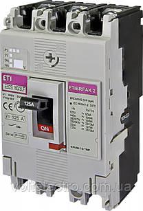 Автоматический выключатель EB2S 160/3LF 125A 3p