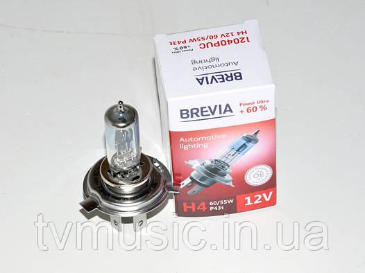 Лампа галогенная Brevia H4 Power Ultra +60% (12040PUC)