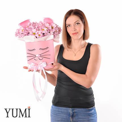 """Милый flowerbox с хризантемами """"Кошечка"""", фото 2"""