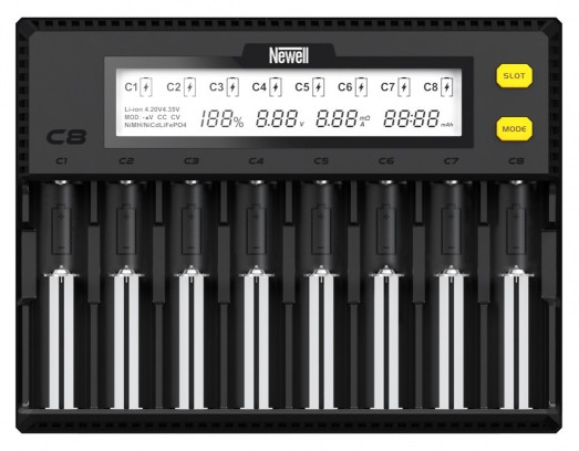 Зарядное устройство Newell Smart C8 для NiMH / Li-Ion аккумуляторов (Smart C8)