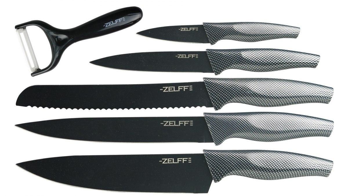 Набор ножей Zelff t8139 5 штук с овощечисткой в коробке
