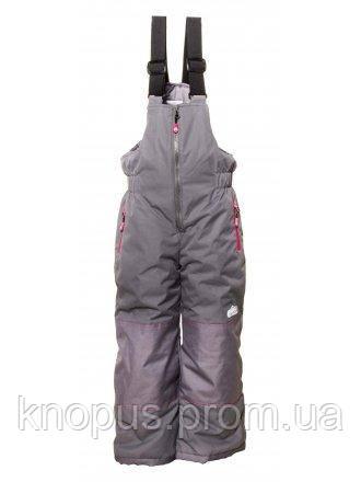 Зимние лыжные термоштаны для девочки темно-серые, Ski Tour, Pidilidi