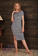 Модное платье в полоску из вискозы