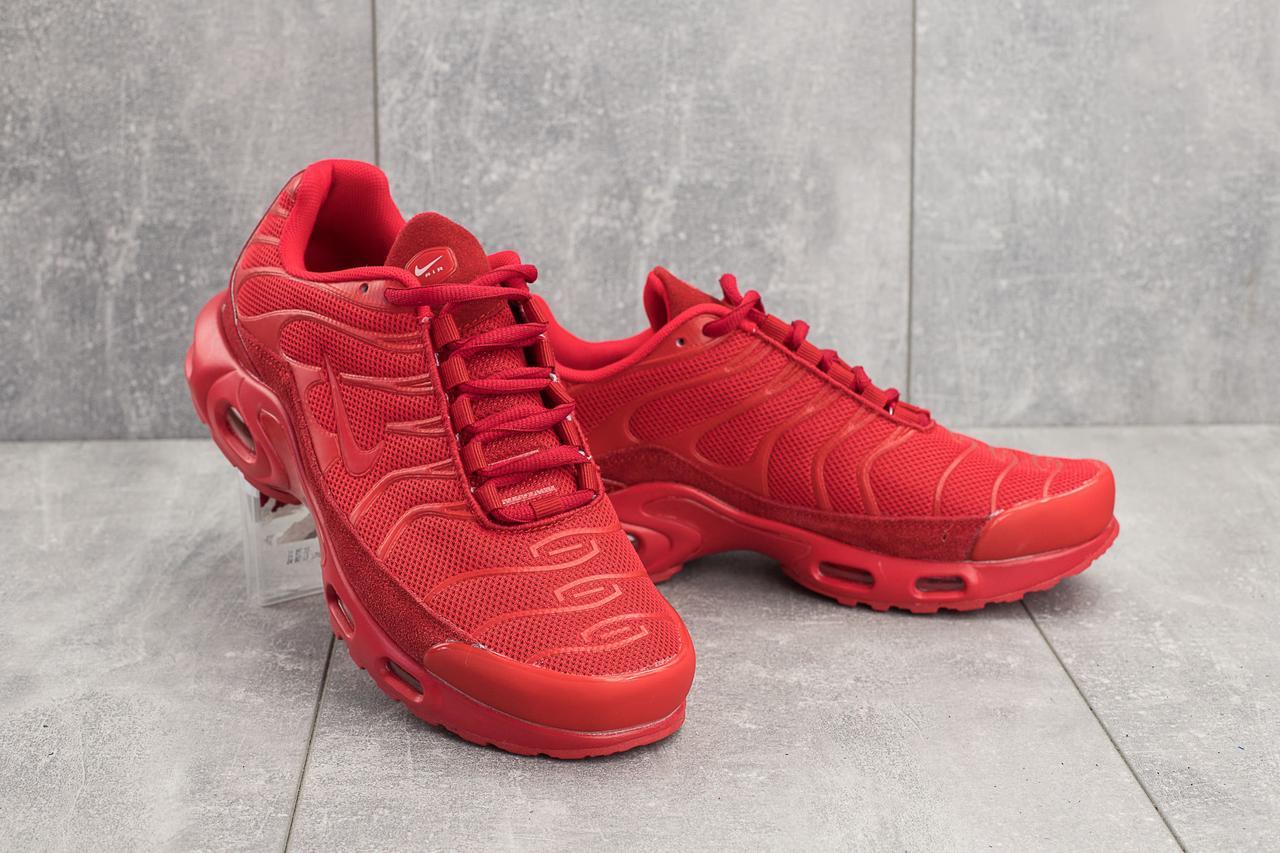 Кроссовки G 5069-1 (Nike Air Max Plus TN) (весна-осень, мужские, сетка плотная, красный)