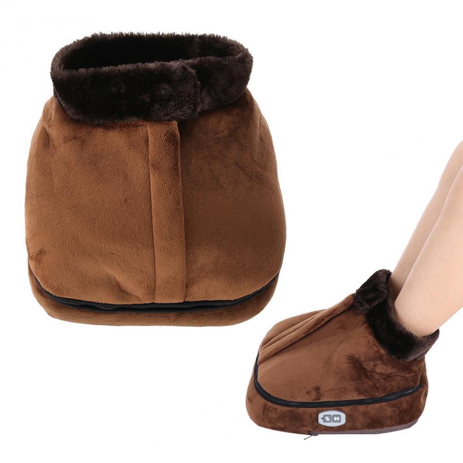 Електрогрілка, масажер для ніг, 2 in 1 Warm Mas, з застібкою, 2 режими, електрогрілка для ніг