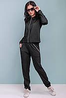 Модный спортивный костюм женский черный SV 3199, фото 1