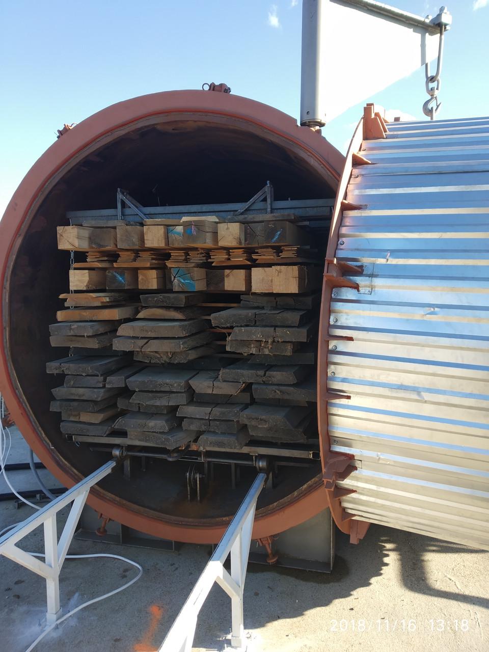 Термическая обработка давальческой древесины