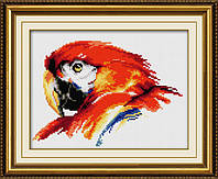 """Набор для рисования камнями (холст) """"Красочный попугай"""" LasKo"""