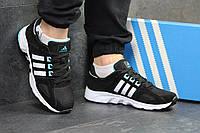 Кроссовки женские Adidas Equipment в стиле Адидас Эквипмент, замша, текстиль код SD-4581. Черно-белые