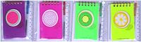 Блокнот на спирали  А6  55 листов в клетку + ручка К-3898