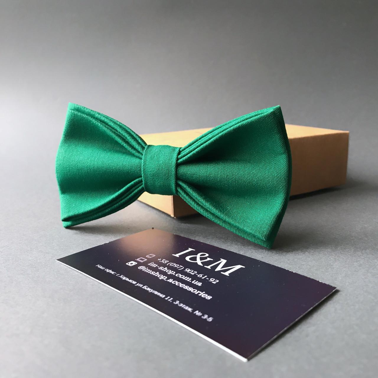 Краватка-метелик I&M Craft класичний смарагдовий (010330)