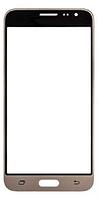 Стекло (для ремонта дисплея) для Samsung J320H Galaxy J3 (2016), с OCA пленкой, цвет золотой