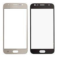 Стекло (для ремонта дисплея) для Samsung J330F Galaxy J3 (2017), с OCA пленкой, цвет золотой