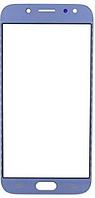 Стекло (для ремонта дисплея) для Samsung J530F Galaxy J5 (2017), с OCA пленкой, цвет синий