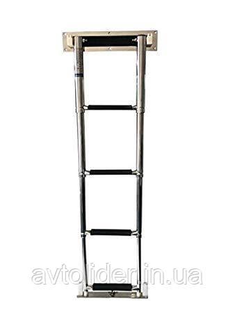 Нержавіюча телескопічна сходи для монтажу в корпус