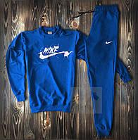 Мужской спортивный костюм Найк синего цвета (Спортивный костюм трикотажный весна/лето)