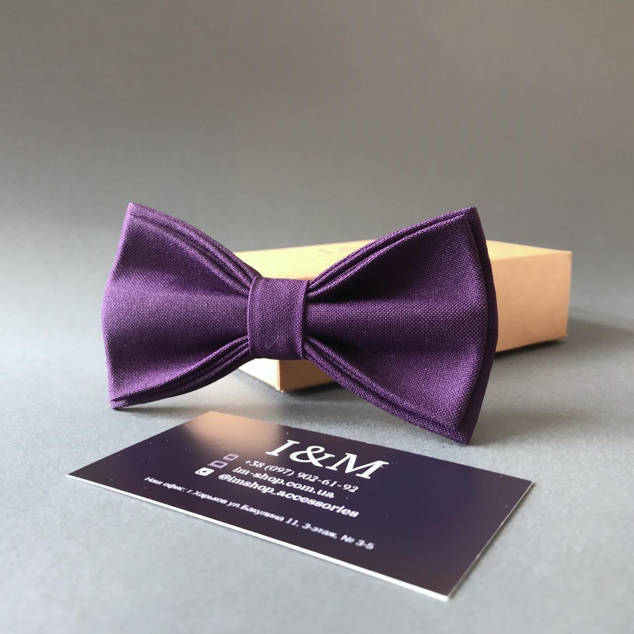 Галстук-бабочка I&M Craft классический фиолетовый (010331)