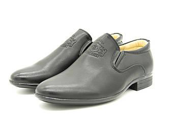Туфли для мальчика черные Размеры: 32-35