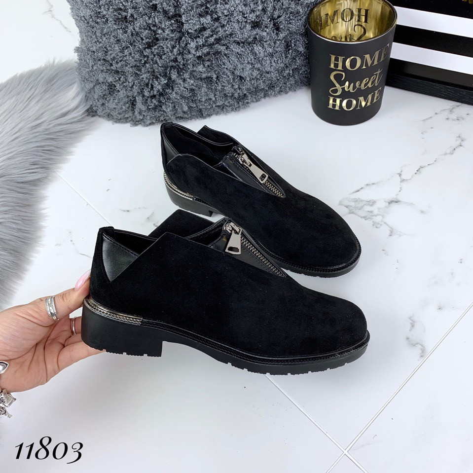 Женские туфли весенние эко-замш