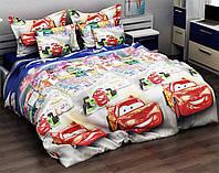 Детский комплект постельного белья Тачки полуторный, ранфорс 100% хлопок. (арт.11306)