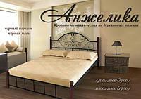 Кровать металлическая Анжелика (ножки дерево)