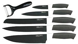 Набор ножей Zelff t8141 5 штук с овощечисткой в коробке