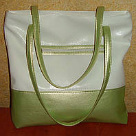 Нежная духцветная сумка (белый/мятный), фото 1