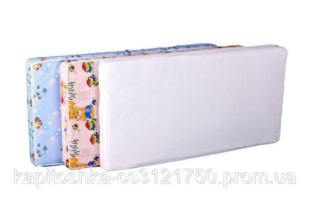 Детский матрас в кроватку KPK-10 люкс толстый (кокос, поролон, кокос) зеленый тачки