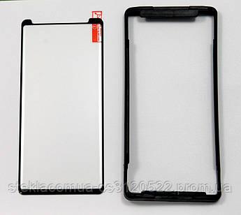 Защитное стекло 3D Samsung Note 9 полная проклейка (с посадочной рамкой)