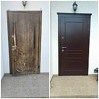 Облицовка входных дверей