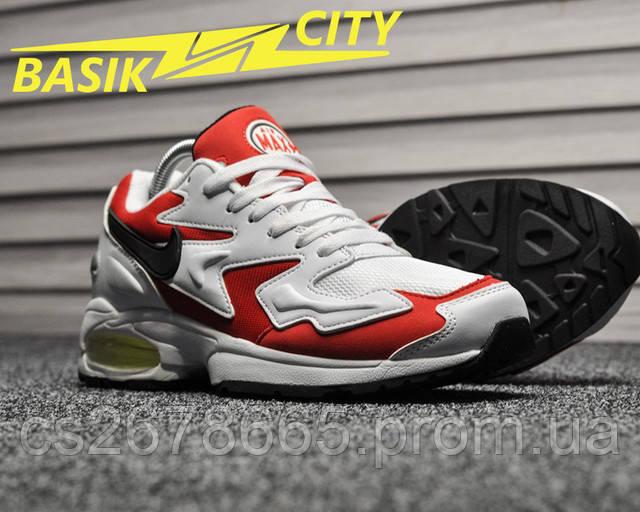 Мужские кроссовки Nike Air Max 2 Light White Red страница описания фото