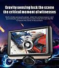 """Видеорегистратор K8 360 градусов 4.5"""" экран авторегистратор планшет 2 камеры датчик удара многофункциональный, фото 7"""
