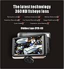 """Видеорегистратор K8 360 градусов 4.5"""" экран авторегистратор планшет 2 камеры датчик удара многофункциональный, фото 5"""