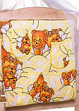 Комплект в кроватку, бортики, защита- рисунок желтый (мишки спят), фото 4