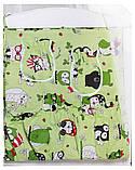 Комплект в кроватку, бортики, защита рисунок салатовая (черно-белые совы), фото 3