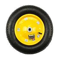 Колесо пневматическое BudMonster 3.25х8 с дополнительным креплением, d=16, d=33 см, (желтое) (01-038)