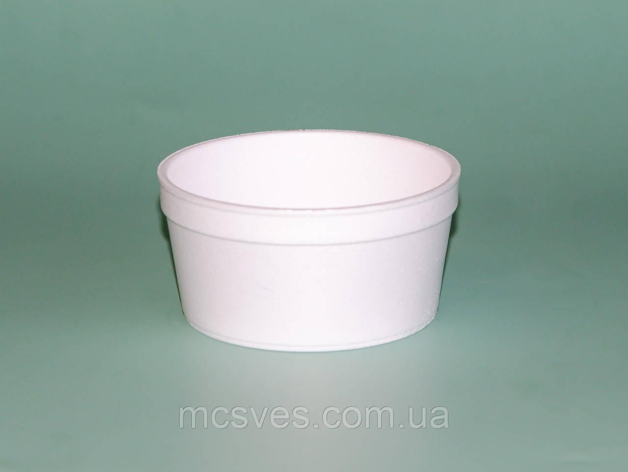 Емкость супная из вспененного полистирола с крышкой, 240 мл