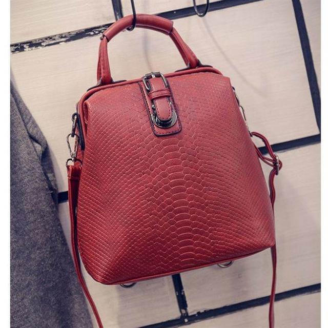 Сумка-рюкзак красная