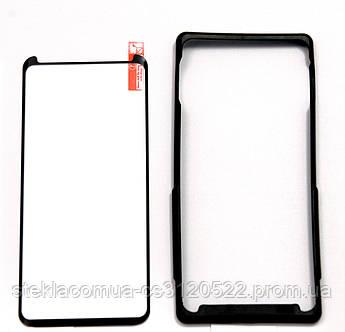 Защитное стекло 3D Samsung Note 8 полная проклейка (с посадочной рамкой)