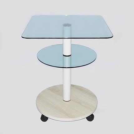 Стол журнальный стеклянный квадратный Commus Bravo Light400 Kv6 laz-pepel-w50, фото 2