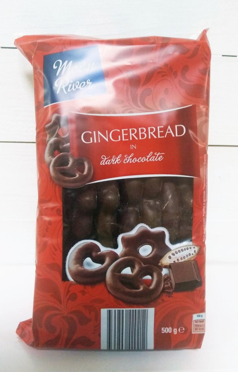 Пряники Moon River Gingerbread in dark chocolate 500 g