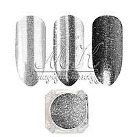 """Дизайн для ногтей """"Серебро"""" чистое"""