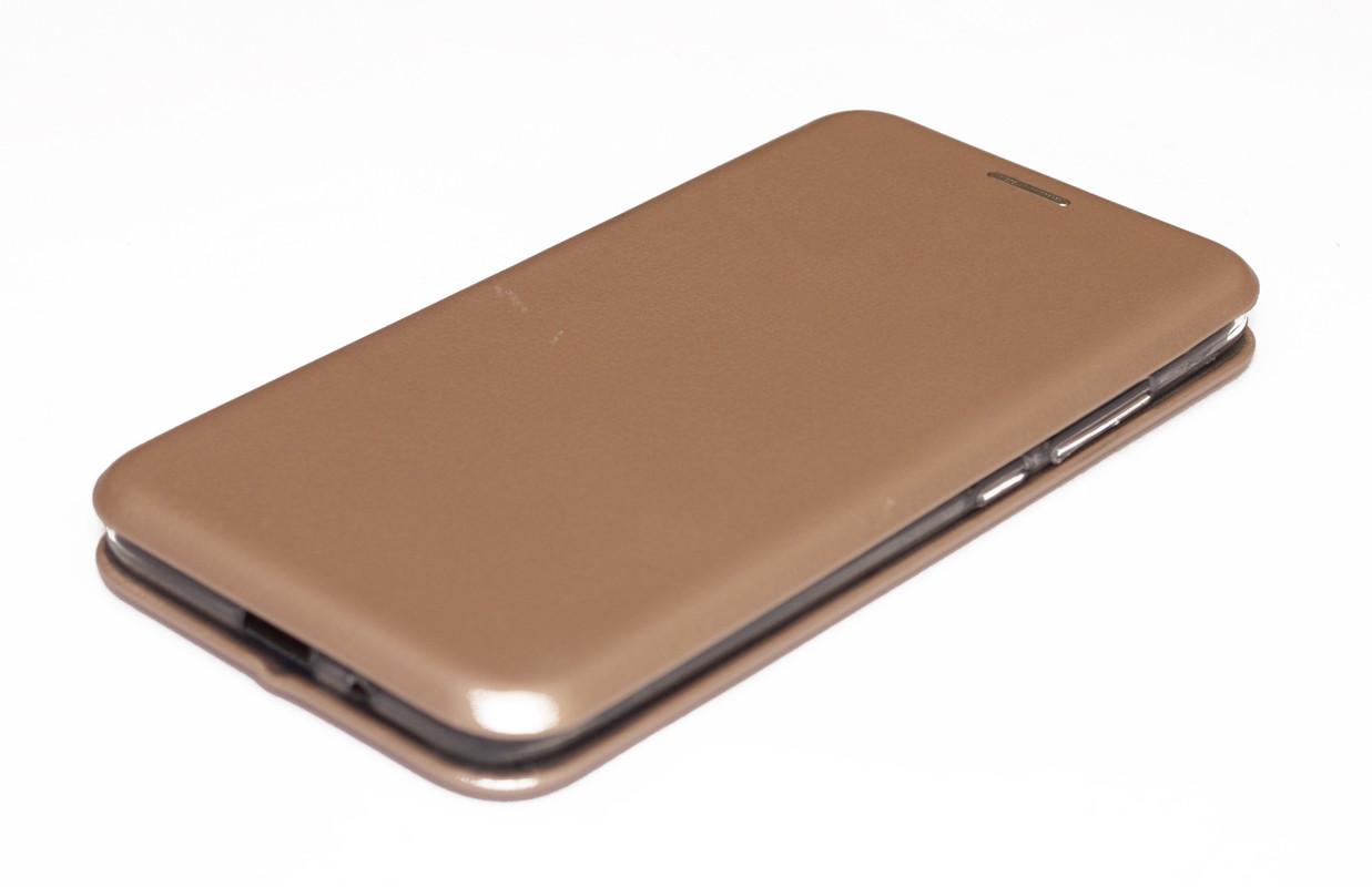 Чехол-книжка для Xiaomi Redmi 6A кожаный Золотой