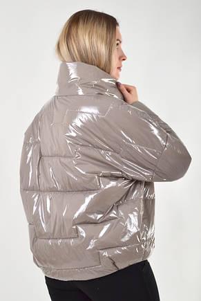0f37f7472a4 Стильная женская демисезонная куртка KTL-295 - серо-бежевая 46 размера -  Kattaleya Весна