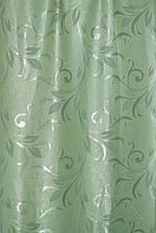 """Штора Блекаут """"Королівські пелюстки зелень"""" світлонепроникні штори, фото 2"""