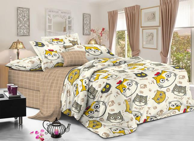 Полуторный комплект постельного белья 150*220 сатин (11350) TM КРИСПОЛ Украина, фото 2