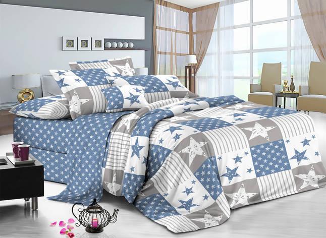 Двуспальный комплект постельного белья 180*220 сатин (11360) TM КРИСПОЛ Украина, фото 2
