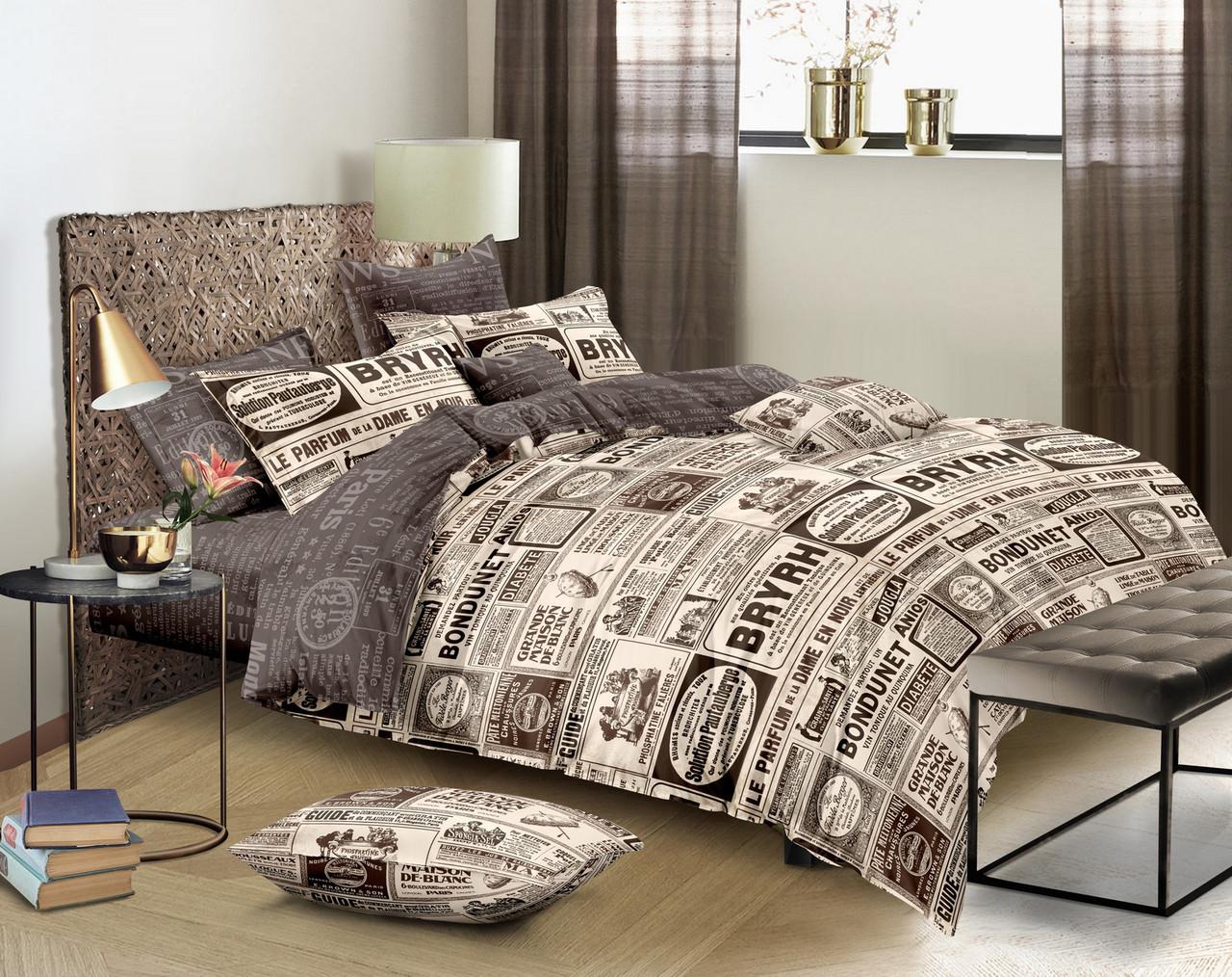 Двуспальный комплект постельного белья 180*220 сатин (11369) TM КРИСПОЛ Украина