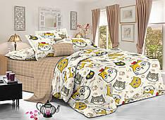 Двуспальный комплект постельного белья евро 200*220 сатин (11374) TM КРИСПОЛ Украина
