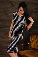 Модное платье в полоску 42-44, темно-синий